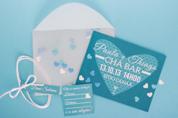 Convite Chá Bar Papelaria Personalizada Personalização Festas Ribeirão Preto SP